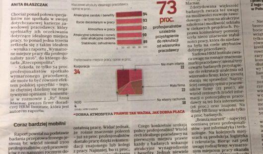 Za jakimi firmami tęsknią polscy profesjonaliści?